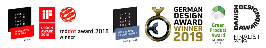 Design awards for LockTiles 2018-2019